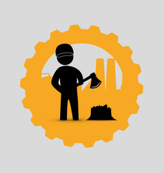 Worker design industrial icon white background vector