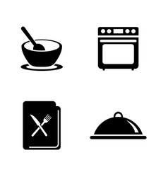 cooking simple related icons vector image