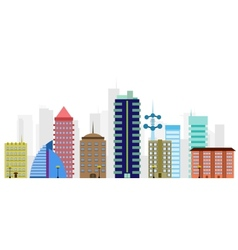 multi-colored city vector image vector image