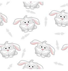seamless pattern rabbit vector image vector image