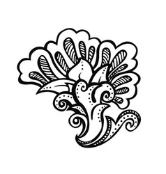 zentangle decorative element vector image