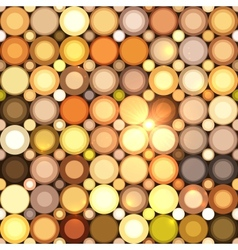 Abstract disco circles seamless pattern vector image
