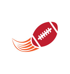 american football ball with shoot effects logo vector image