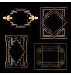 Art Deco Vintage frames and design elements vector