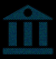 bank building composition icon of halftone circles vector image