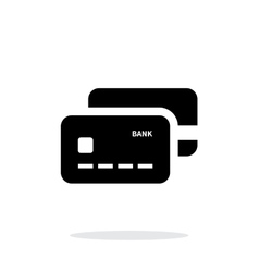 Bank credit cards icon on white background vector