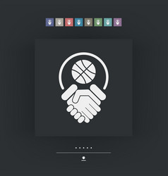 Basketball fairplay vector