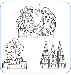Biblical scene vector