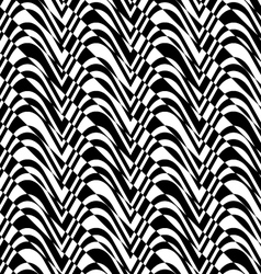 Black and white alternating bulging waves with vector image