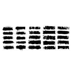 black ink splashes vector image