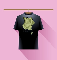 Black shirt with green france logo vector