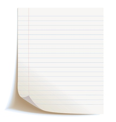 Blank worksheet exercise book Isolated on white vector image