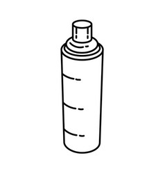 Brake cleaner spray icon doodle hand drawn vector