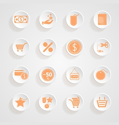 button shadows Shopping Icon Set vector image