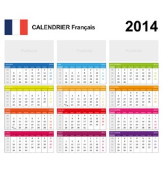Calendar 2014 French Type 19 vector image vector image