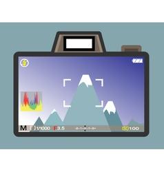camera view vector image