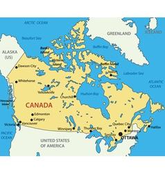 Canada - map vector image