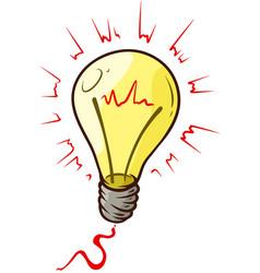 cartoon lightning yellow bulb vector image