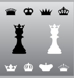 chess pawns crowns vector image
