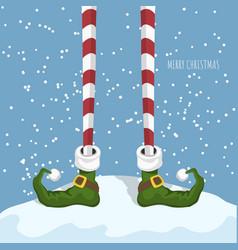 christmas elf in cartoon style santas helper vector image