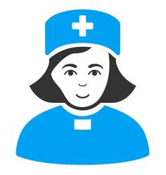 Church female doctor flat icon vector
