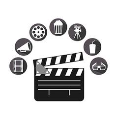 cinema icons vector image