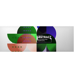 circles and semicircles abstract background vector image