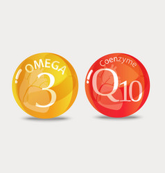 Coenzyme q10 and omega 3 vector