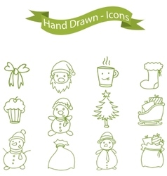 Collection of Christmas holiday icons vector