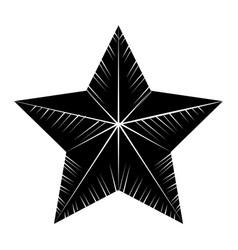 Contour cute modern and big star design vector