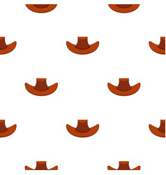 Cowboy hat pattern flat vector