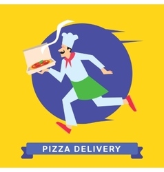 Delivery of fast food vector image