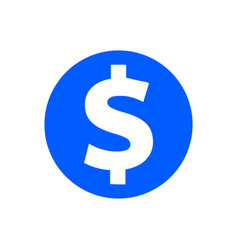 dollar glyph icon vector image