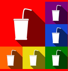 drink sign set of icons with vector image