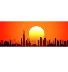 Dubai sunset vector image