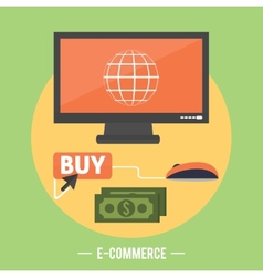 e-commerce infographic concept purchasing vector image