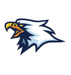 Eagle hawk falcon mascot logo mascot design vector