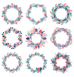 easter wreath icons vector image