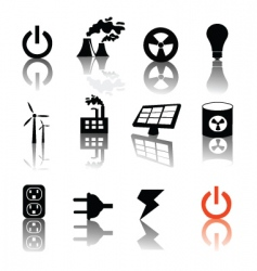 electricity and power vector image