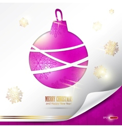 elegant christmas background with evening ball pla vector image