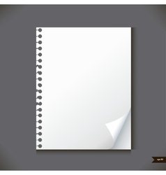 Empty paper sheet with place for your text vector image