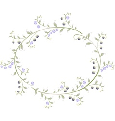 Frame in the shape of an ellipse of berries and vector