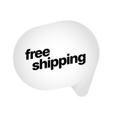 Free shipping label for vector