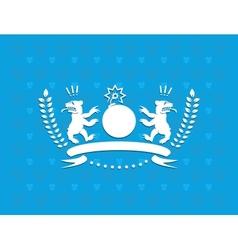 Funny heraldry vector image