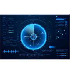 futuristic radar military navigate vector image