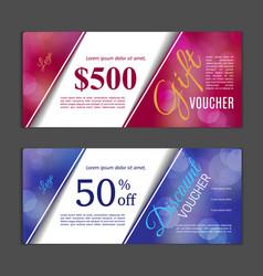 gift voucher template vector image vector image