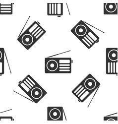 grey radio with antenna icon isolated seamless vector image