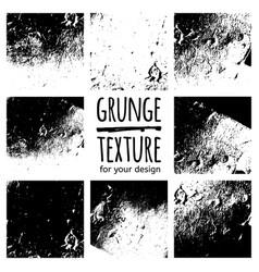 Grunge black textures on white background vector