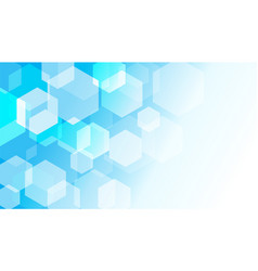 hexagon box on blue gradient abstract background vector image
