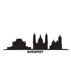 Hungary budapest city city skyline isolated vector